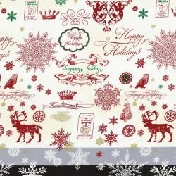 Happy Holidays - Cream