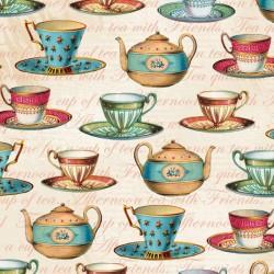 Teapot Flora - Teacups
