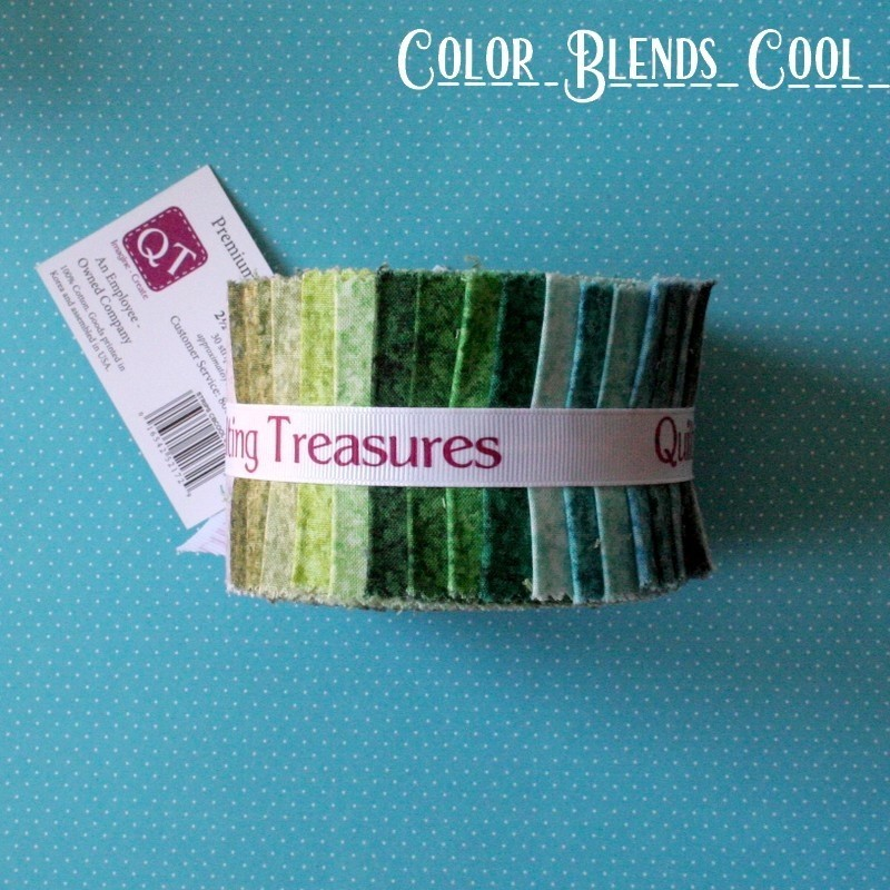 "Color Blends Cool - Strips 2.5"" Jelly Roll"