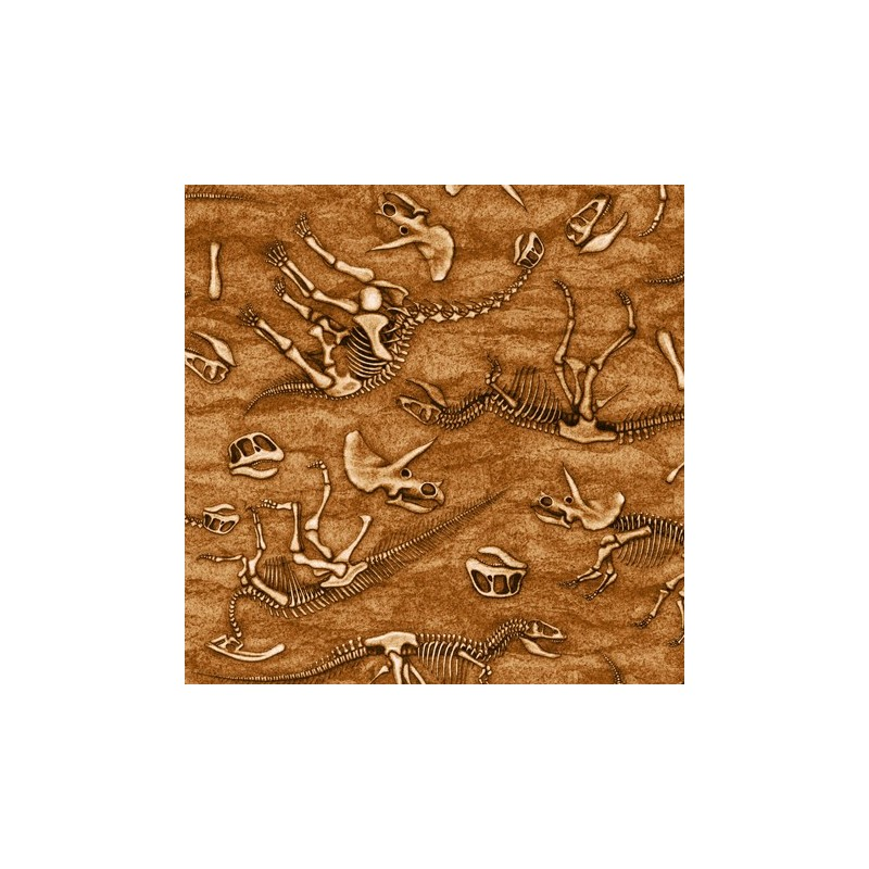 Jurassic Jungle - Skeletons Terracotta