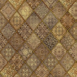 Heavenly - Diagonal Filigree Brown