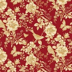 Savannah Garden - Red Toile