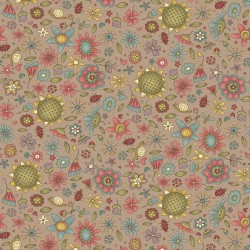 Garden Whimsy - Floral Taupe