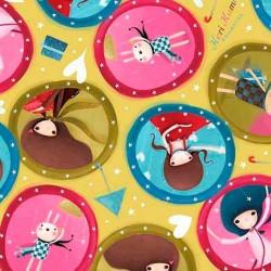 The Gift of Friendship- Girl Medallion Avocado