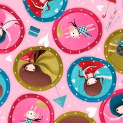 The Gift of Friendship- Girl Medallion Pink