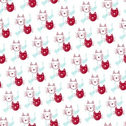 The Cat's Meow - Cat Faces Red (20 cm)