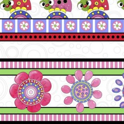Lazy Little Ladybugs - Decorative Stripe (35 cm)
