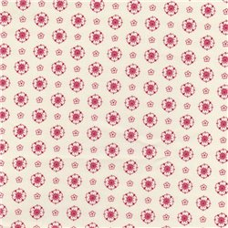 Patchwork Cotton - Flowers Light Red