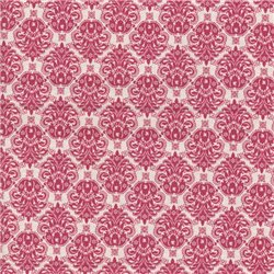 Patchwork Cotton - Damask Red