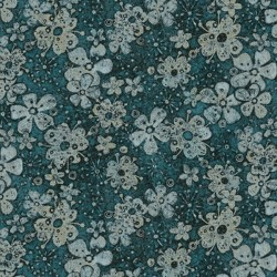 Tuscan Breeze - Teal Flowers